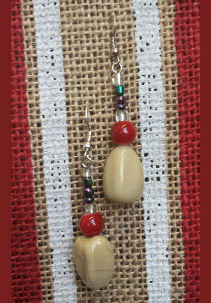 Beautiful custom made Earrings Handmade with Glass, & crystal beads Only $15.00