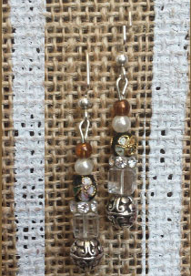 custom made Earrings crystal glass beads