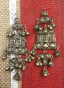 Beautiful Antique Earrings Handmade with metal, from Peru Only $15.00